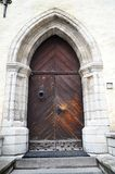 Old wooden door in old town Royalty Free Stock Image