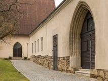 Old wooden door of an old wine cellar. Klosterneuburg Austria Royalty Free Stock Photo