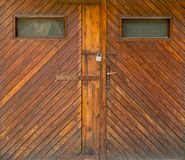 Old wooden door. Isolated on white background royalty free stock photo