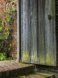 Old Wooden Door Opens to a Forgotten Garden Stock Images
