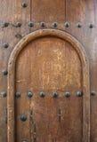 Old wooden door panel Stock Photo