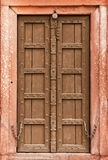 Old wooden door - part of Indian architecture Stock Photo