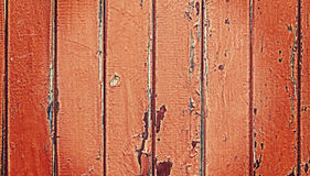 Old wooden door with peeling paint. Royalty Free Stock Photos