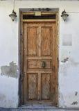 Old wooden door in Rethymnon. Royalty Free Stock Photos
