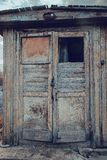 Old wooden door retro vintage Stock Images