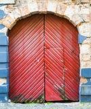 Old wooden door, Riga, Latvia Royalty Free Stock Photography