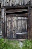 Old Wooden Door in Rural House Stock Image