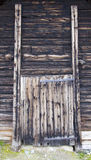Old Wooden Door in Rural House Royalty Free Stock Image