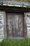 Old Wooden Door in Rural House Royalty Free Stock Photo