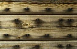 Old wooden door. Old door with rusty nails Royalty Free Stock Photos