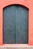 Locked door. Old wooden door,its closed Stock Photos