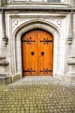 Old Wooden Door at Saint Patricks Cathedral in Armagh Ireland royalty free stock photo