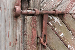 Old wooden door with shutter. Set of backgrounds Stock Photos