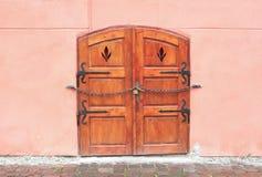 Old wooden door. In Sighisoara, Romania Stock Image