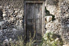Old wooden door at Stone Town Royalty Free Stock Photo