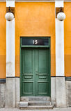 Old wooden door in Sweden, Europe Royalty Free Stock Images