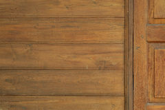 Old Wooden door in Thai style texture background. Stock Photos