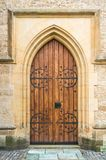Old wooden door to the church Royalty Free Stock Images