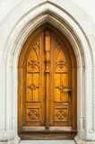 Old wooden door to the church in St. Gallen Royalty Free Stock Image