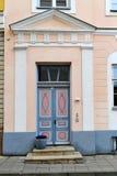 Old wooden door in old town Stock Photos