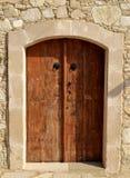 Old wooden door. Traditional rural old wooden door Stock Image