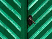 Old wooden door in turquoise color Stock Image