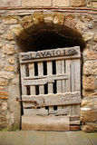 Old Wooden Door in Tuscany  Royalty Free Stock Photos