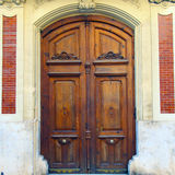 Old wooden door in Valencia, Spain Royalty Free Stock Photo