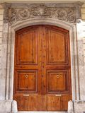 Old wooden door in Valencia, Spain Stock Photography