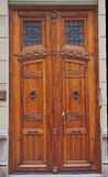 Old wooden door in Valencia Royalty Free Stock Images