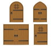 Old wooden door vector illustration Stock Photos