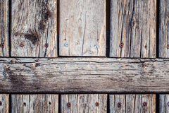 Old wooden door in vinatge style Royalty Free Stock Photography