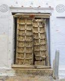 Old wooden door vintage background Stock Photo