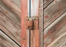 Old wooden door. Vintage rustic wooden background. Photo texture royalty free stock image