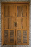 Old wooden door in a wall Royalty Free Stock Photos