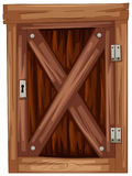 Old wooden door on white background. Illustration Royalty Free Stock Photos