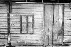 Old wooden door and window Royalty Free Stock Image
