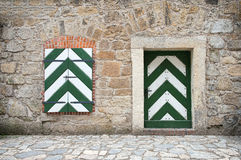 Old wooden door and window. Royalty Free Stock Photos