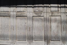 An old wooden door ,window taxture of Thailand and south east Asia Royalty Free Stock Photo