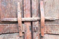 Old wooden door. Old wood door with lock antique background Stock Photography