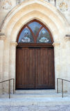 Old Wooden Doors. On a church Royalty Free Stock Photography