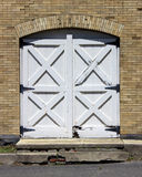 Old wooden doors. Wooden doors on an old building Royalty Free Stock Images