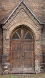 Old wooden doors of cathedral Royalty Free Stock Photo