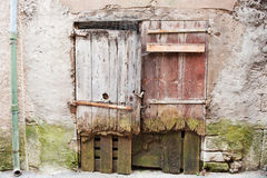 Old wooden doors in France Royalty Free Stock Photography