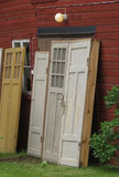 Old wooden doors Stock Photography