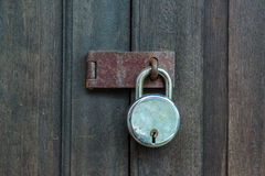 Old wooden doors with lock Stock Photography
