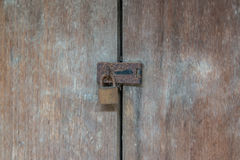 Old wooden doors with lock Royalty Free Stock Photography