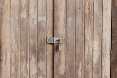 Old wooden doors are locked Royalty Free Stock Images