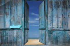 Old wooden doors Royalty Free Stock Image