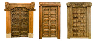 Old wooden doors set 1 Royalty Free Stock Photos